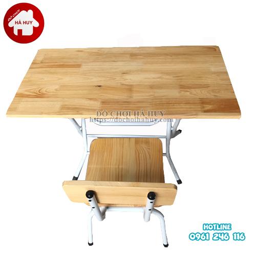 bàn gỗ chân gấp mầm non