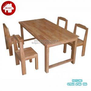 bàn gỗ chân gỗ CAO 50CM HC1-007