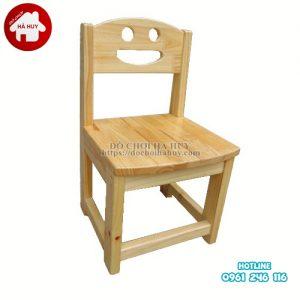 Ghế gỗ mầm non chân gỗ HC1-012