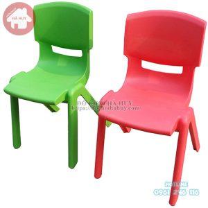 ghế nhựa đúc chữ A khối mầm non
