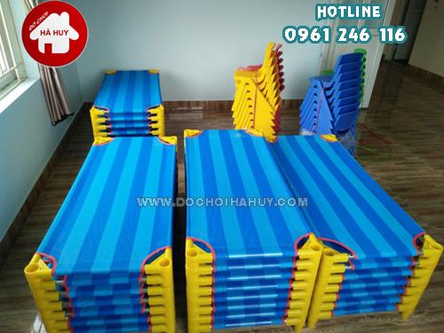 Thông tin giường lưới chân tròn cho bé mầm non HC1-014 Giuong-luoi-chan-tron-cho-be-mam-non-HC1-014-5