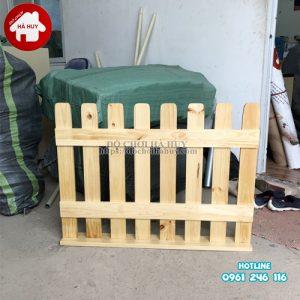 Hàng rào gỗ trường mầm non mẫu 2 HC2-006