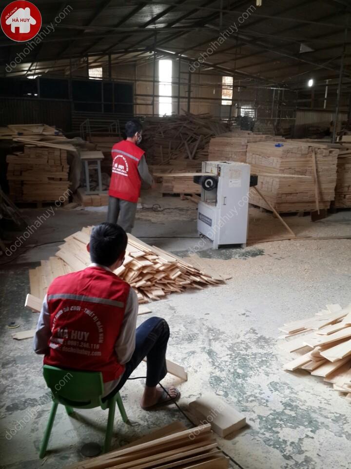 Phản gỗ cho bé mầm non HC1-016-2
