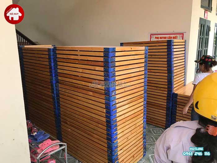 Sản xuất bàn giao nội thất mầm non cho khách tại Mỹ Đức, Hà Nội-7