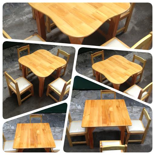 Kích thước bàn ghế gỗ mầm non