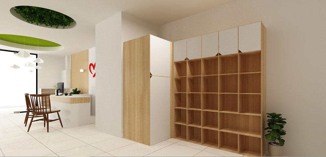 Mẫu thiết kế tủ kệ mẫu giáo CAO CẤP đẹp lung linh