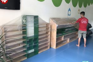 Bàn giao lắp đặt tủ kệ mầm non tại sóc sơn Hà Nội