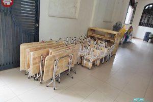 Lắp đặt bàn ghế và đồ dùng gỗ cho trường mầm non công giáo ở Hàng Bột